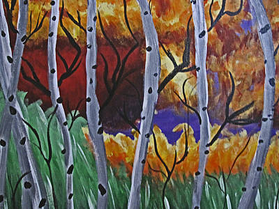Aspens And Wine Poster by Tammy Sutherland