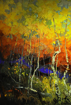 Aspens In The Fall Poster by Rob Hemphill
