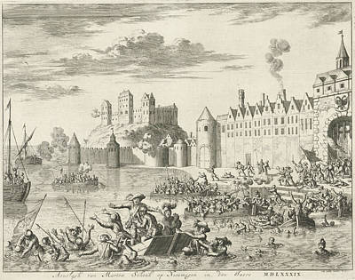 Assault Of Martin Schenck At Nijmegen, 1589 Poster by Jan Luyken And Abraham Wolfgang