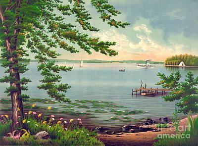 Assawompset Pond 1875 Poster by Padre Art