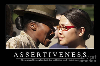 Assertiveness Inspirational Quote Poster by Stocktrek Images