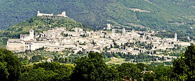 Assisi Italy - Medieval Hilltop City Poster by Jon Berghoff