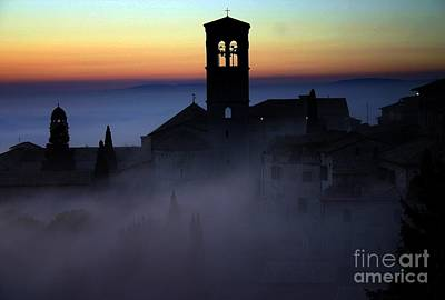 Assisi Steeple Sunset Poster
