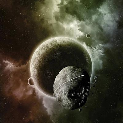 Asteroid Poster by Andrzej Siejenski