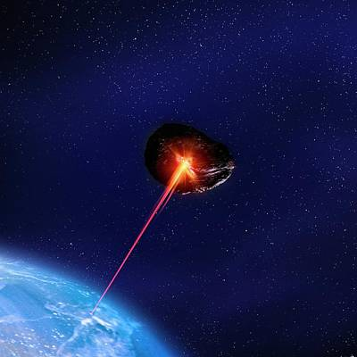 Asteroid Deflection Poster by Richard Kail