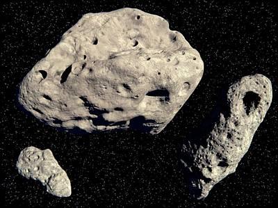 Asteroids Poster by Juan Gaertner