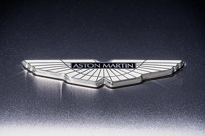 Poster featuring the digital art Aston Martin Badge by Douglas Pittman