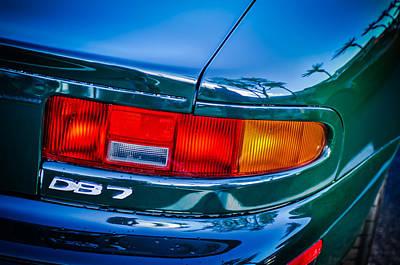 Aston Martin Db 7 Taillight Emblem -0042c Poster