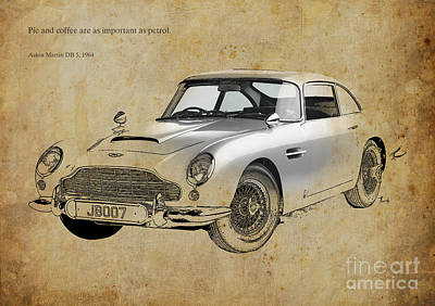 Aston Martin Db5 1964 Quote Poster by Pablo Franchi