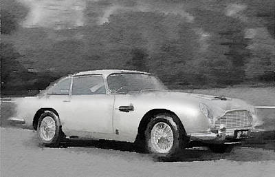Aston Martin Db5 Watercolor Poster by Naxart Studio