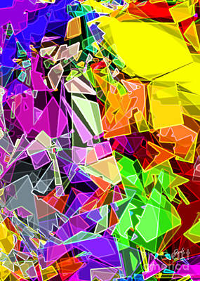 Poster featuring the digital art Astratto - Abstract 51 by Ze  Di