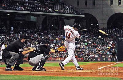 Astros Broken Bat Poster