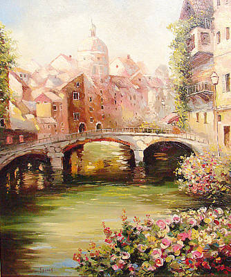 Poster featuring the painting At Noon by Dmitry Spiros