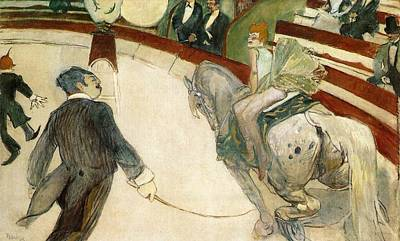 At The Circus Fernando Poster by Toulouse-Lautrec