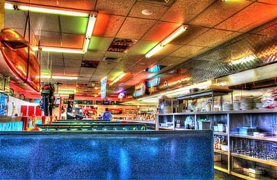 At The Diner 5 Poster by Diane Alexander