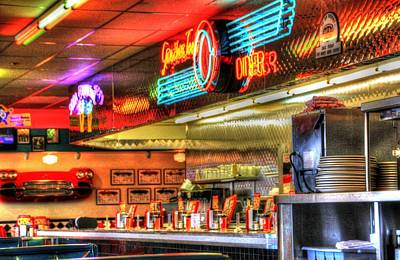 At The Diner 6 Poster by Diane Alexander