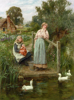 At The Duck Pond Poster by Henry King