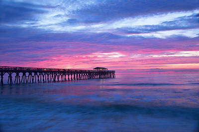 Myrtle Beach State Park Pier Sunrise Poster by Vizual Studio