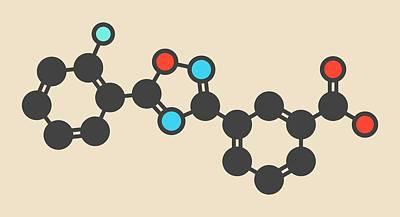 Ataluren Genetic Disorder Drug Molecule Poster by Molekuul