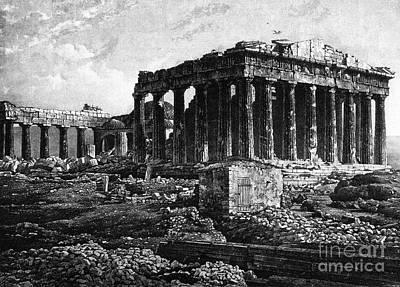 Athenian Acropolis, Parthenon, 1841 Poster by Science Source