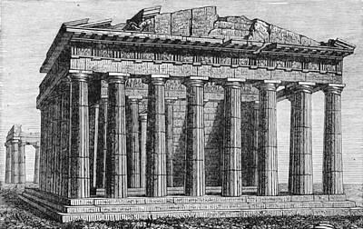 Athenian Acropolis, Parthenon Poster by British Library