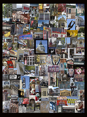 Athens Collage Poster