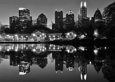 Atlanta Black And White Poster by Frozen in Time Fine Art Photography