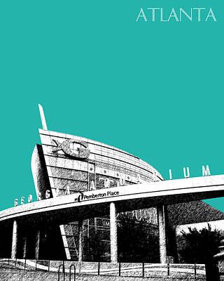 Atlanta Georgia Aquarium - Teal Green Poster
