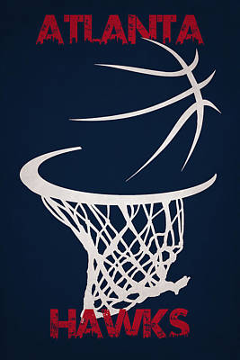 Atlanta Hawks Hoop Poster by Joe Hamilton