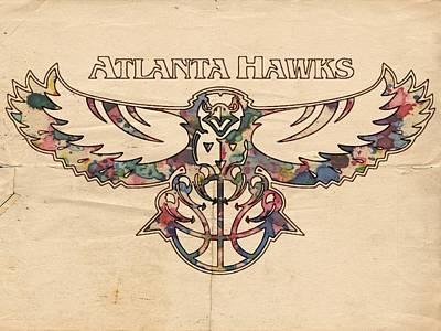 Atlanta Hawks Poster Vintage Poster by Florian Rodarte
