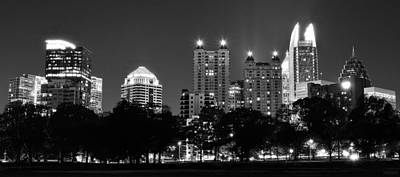 Atlanta In Black And White Poster by Frozen in Time Fine Art Photography