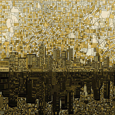 Atlanta Skyline Abstract Poster