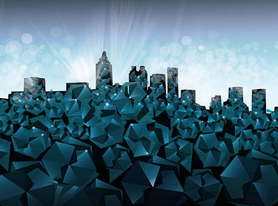 Atlanta Skyline Geometry 3 Poster