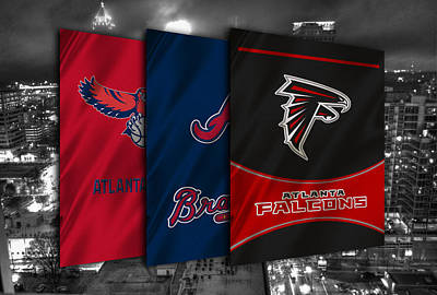 Atlanta Sports Teams Poster