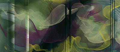 Poster featuring the digital art Atlantian Scarves by Constance Krejci