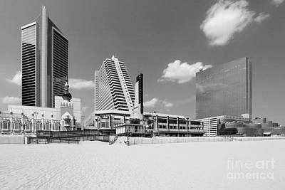 Atlantic City New Jersey Skyline  Poster by Bill Cobb
