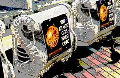 Atlantic City Nostalgia Boardwalk Rolling Chairs Poster