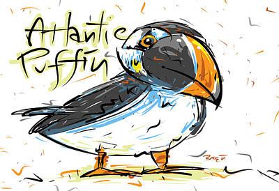 Atlantic Puffin Poster