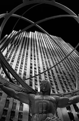 Atlas Rockefeller Center Poster by Dave Beckerman