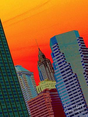 Atomic Skyline Poster by Andy Heavens