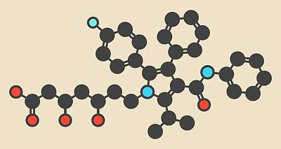 Atorvastatin Cholesterol Drug Molecule Poster by Molekuul