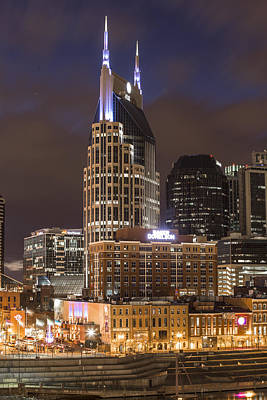 Att Building Nashville  Poster by John McGraw