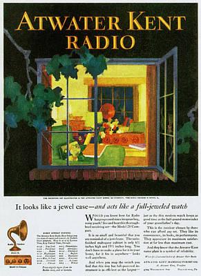 Atwater Kent Radio Ad, 1926 Poster