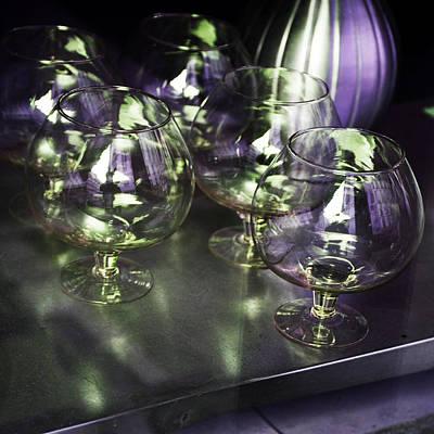 Aubergine Paris Wine Glasses Poster