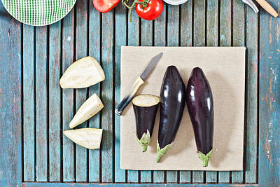 Aubergines Poster by Tom Gowanlock