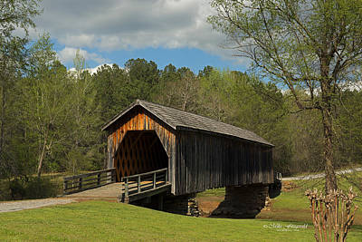 Auchumpkee Creek Covered Bridge Poster