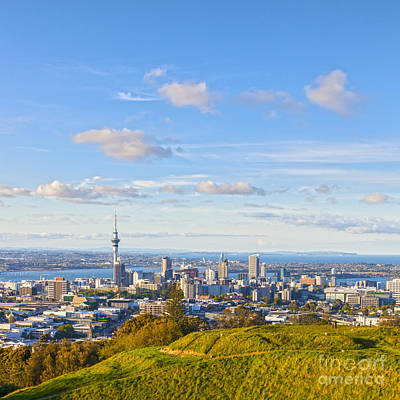 Auckland From Mount Eden Poster by Colin and Linda McKie