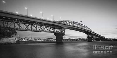 Auckland Harbour Bridge Evening Poster