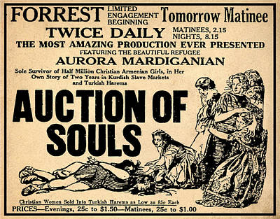 Auction Of Souls Poster by Bill Cannon