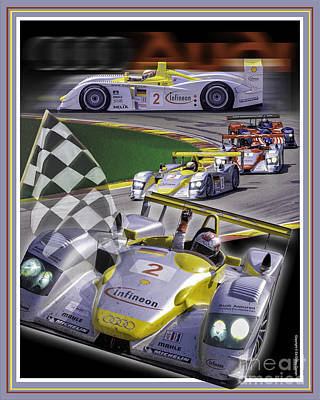Poster featuring the photograph Audi R8 2005 by Ed Dooley